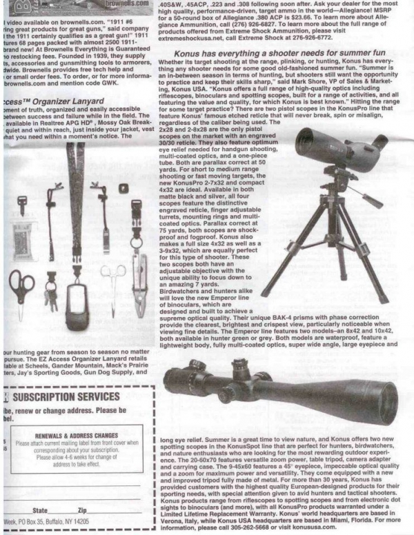 KONUSPOT AND M-30 ON GUN WEEK MAGAZINE