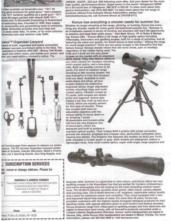 KONUSPOT AND M-30 ON GUN WEEK MAGAZINE