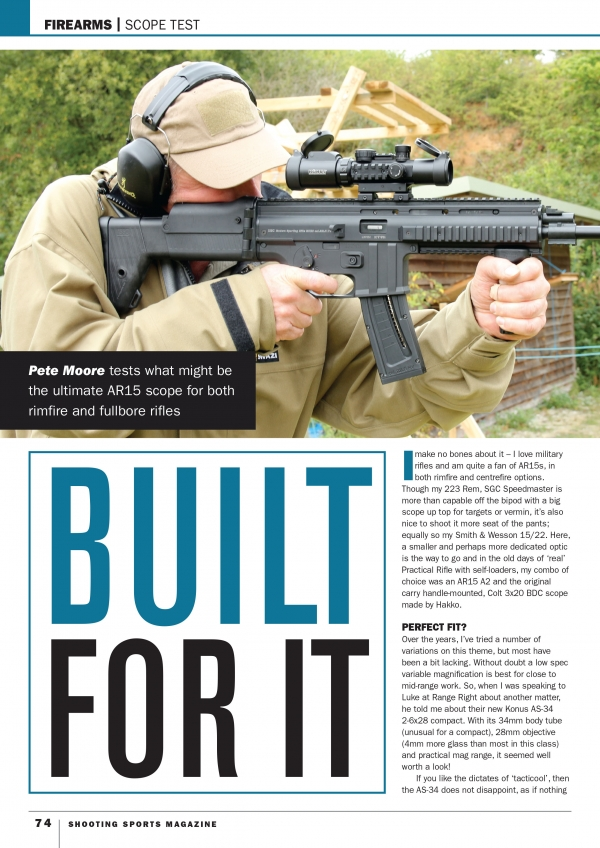 #7170 KONUSPRO AS-34 ON SHOOTING SPORTS MAGAZINE
