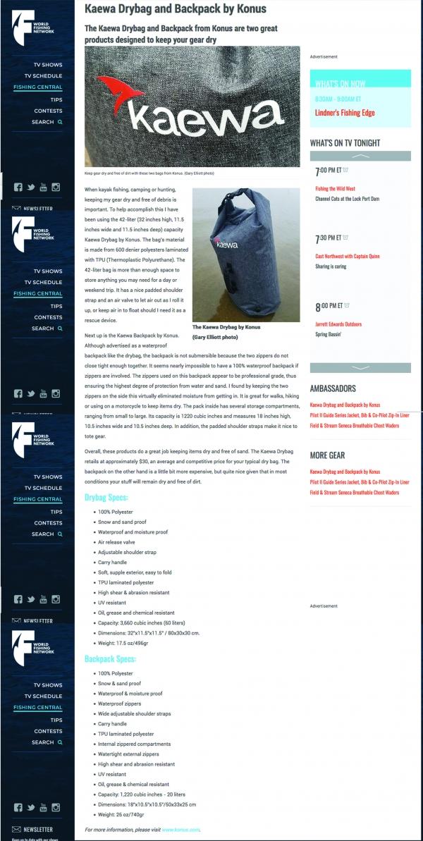 KAEWA ON WORLDFISHINGNETWORK.COM